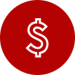Red circle with dollar sign icon inside